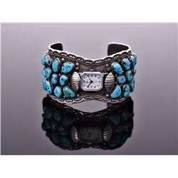 Phil Chapo, Navajo South West Blue Turquoise