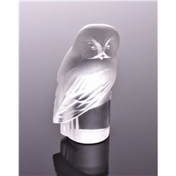 Vintage Lalique Crystal Owl Paperweight, Fran