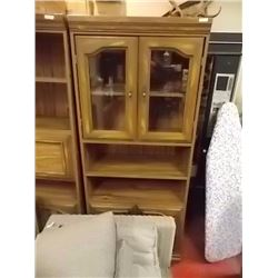 CABINET WITH GLASS DOOR - 6' TALL