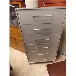 NEW HIGH BOY DRESSER - 6 DRAWER - GREY
