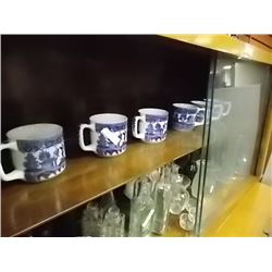 SHELF - ORIENTAL MUGS - DELF BLUE - (1 CIP)AS-IS