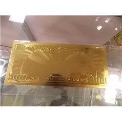 GOLD FOIL BILL - .999 GOLD - BEN FRANKLIN