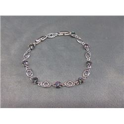BRACELET - 8CTW ROUND FACETED MYSTIC TOPAZ (8 TTL) IN STERLING SILVER SETTING - RETAIL ESTIMATE $325