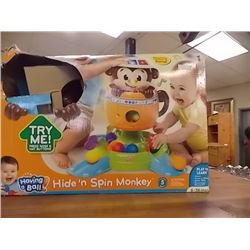 HIDE & SPIN MONKEY GAME FOR KIDS - STR