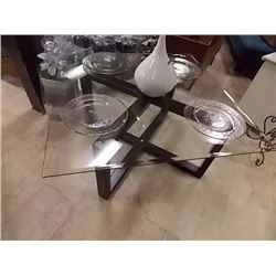 GLASS TOP COFFEE TABLE - SQUARE