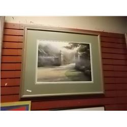 LIMITED EDITION THOMAS KINKADE LITHO - 1970'S - GATEWAY TO PARADISE