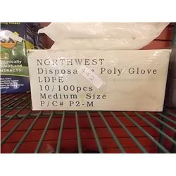 NEW BOX OF DISPOSABLE POLY GLOVES