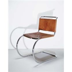 LUDWIG MIES VAN DER ROHE CANTILEVERED CHAIR, MODEL MR533, 1927 MANUFACTURED  FROM 1932 BY THONET; .