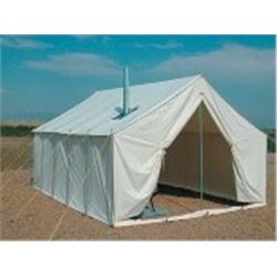 12X14 Canvas Tent with Internal Frame, Timberline Stove & Fire Ring
