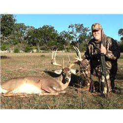 Professionally Guided Trophy Free Range Whitetail Hunt for Two (2) Hunters in Texas
