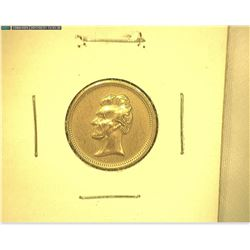 Civil War Era George Washington/Abraham Lincoln Bronze Medalet,19mm, rd, BU.