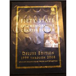 1999-2008 P & D Partial Set of Fifty States Commemorative Quarters in a Deluxe Edition Whitman folde