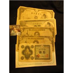 (5) Old Japanese Bank Notes.
