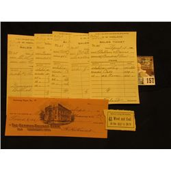 "Five Different Sales Tickets ""For Use in 20th Century Bookkeeping and Office Practice""; ""Business Co"