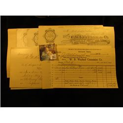 Large Group of College Currency Invoices and Bookkeeping memorabilia,
