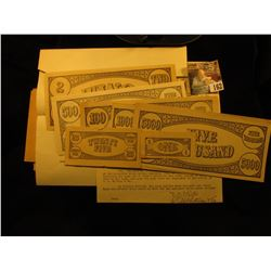 Large Group of College Currency Invoices and Bookkeeping memorabilia, envelopes & etc.