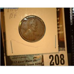 1910 P Lincoln Cent, EF.