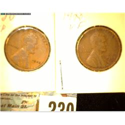 1928 P VF & 28 S VF Lincoln Cents.