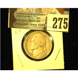 1939 D Jefferson Nickel, Very Fine.