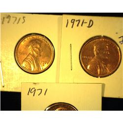 1979 P, D, & S Red Uncirculated Lincoln Cents.