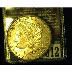 1899 O Morgan Silver Dollar, Original toned Uncirculated.