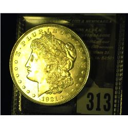 1921 P Morgan Silver Dollar, Gem BU.
