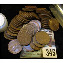 (52) San Francisco Mint U.S. Wheat Cents in a plastic tube.