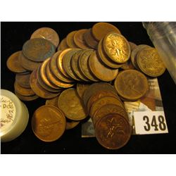 (50) Mixed Date Canada Cents, many nicer grades and some earlier dates in this group.