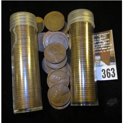 (122) San Francisco Mint U.S. Wheat Cents in a plastic tube.