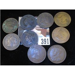 (2) 1876H, 1888, 1898, 1902, 1906, 1907, 1910, & 1919 Canada Large Cents.
