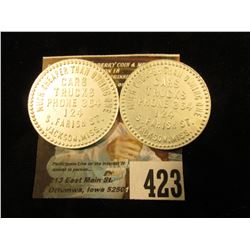 """Pair of """"Good For/25c/In Trade"""", """"Much Cheaper Than Owning One/Cars/Trucks/Phone 364/124/S. Farish S"""