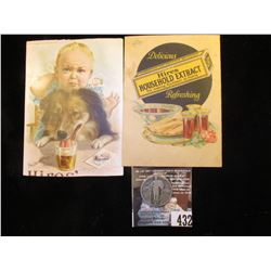 Two Different Hires' Household Extract or Root Beer Advertising cards from the late 1800s; & 1925 P