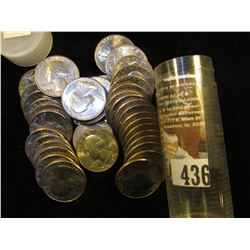 1976 D Solid-date Gem BU Roll of Bicentennial Washington Quarters in a plastic tube. (40 pcs.).