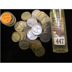 (40) 1939 thru the fifties Jefferson Nickels in a plastic tube. Circulated.