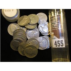 (25) 1939 P Jefferson Nickels in a plastic tube.