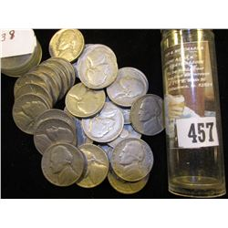 (30) 1939 P Jefferson Nickels in a plastic tube. Circulated.