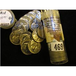 1968 D Solid Date Gem BU Roll of Jefferson Nickels. (40 pcs.).