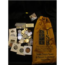 "Polyester Draw String Money Bag ""ISB…Iowa State Bank & Trust Company Iowa City, Iowa"" contains a nic"
