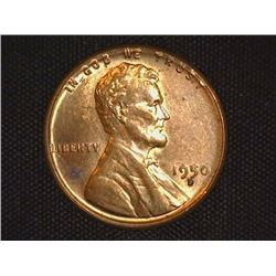 1950 D Lincoln Cent, Red-brown Uncirculated.