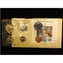 1965 U.S. Special Mint Set in original envelope and cellophane as issued.