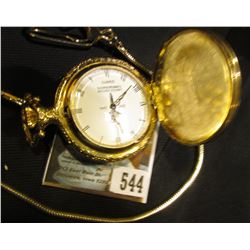 1886-1986 Limited Edition Commemorative Pocket Watch with Quartz Movement and chain, appears to need