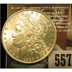 1889 P U.S. Morgan Silver Dollar, Brilliant Uncirculated.