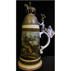 """House of Goebel Bavaria W. Germany"" Beer Stein labeled ""Ungriff franzofifcher Chauffeurs a Cheval"","