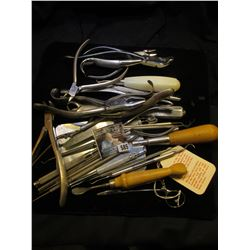 Large group of Heavy duty Veterinarian Tools.