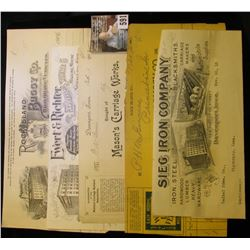 """1906 Invoice """"Geo. White Buggy Co., Rock Island, Ill.""""; 1912 Invoice """"Ewert & Richter Express and St"""
