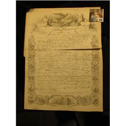 "An interesting Old ""Facsimile of the Signatures of the Declaration of Independence"" and an Illustrat"