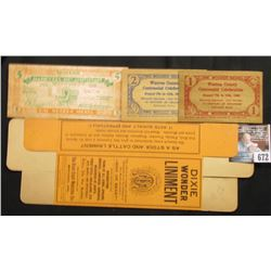 """Dixie Stock Remedies None Better Will Keep in Any Climate"",""Dixie Wonder Liniment"", unused box; pai"