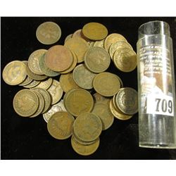 (50) Old U.S. Indian Head Cents in a plastic tube.
