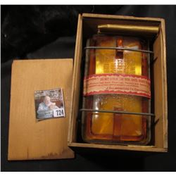 """Original Wooden Medical Box with """"Lee's Absorbent Gauze Five Yards Iodoforms Manufactured by J. Ellw"""