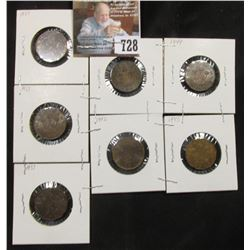 (3) 1937, 1941, 1942, 1944, & 1945 Great Britain Three Pence Coins in Gem Brown Uncs.